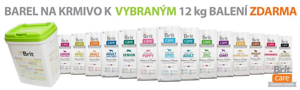 Brit Care + barel na krmivo zdarma