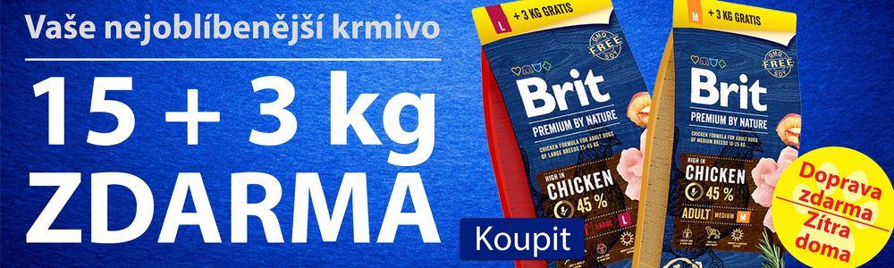 Brit premium 15 + 3kg zdarma