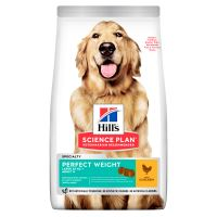 Hills Science Plan Canine Perfect Weight Adult Large Chicken 12kg + HILLS VRHAČ MÍČKŮ ZDARMA  1317 Kč