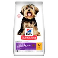 Hills Science Plan Canine Adult Sensitive Stomach&Skin Small&Mini Chicken 6kg + HILLS VRHAČ MÍČKŮ ZDARMA  921 Kč