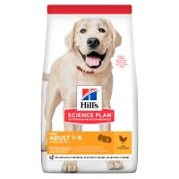 Hills Science Plan Cenine Adult Light Large Chicken 18kg + HILLS VRHAČ MÍČKŮ ZDARMA  1469 Kč