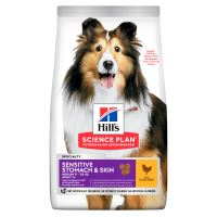 Hills Science Plan Canine Sensitive Adult Medium Chicken 14kg + HILLS VRHAČ MÍČKŮ ZDARMA  1456 Kč
