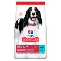 Hills Science Plan Canine Adult Advanced Fitness Medium Tuna&Rice 12kg + HILLS VRHAČ MÍČKŮ ZDARMA  1318 Kč