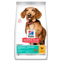 Hills Science Plan Canine Adult Perfect Weight Small&Mini Chicken 6kg + HILLS VRHAČ MÍČKŮ ZDARMA  872 Kč