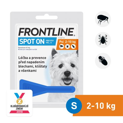 Frontline Spot-On Dog S sol 1x0,67ml