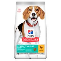 Hills Science Plan Canine Perfect Weight Adult Medium Chicken 12kg + HILLS VRHAČ MÍČKŮ ZDARMA  1318 Kč