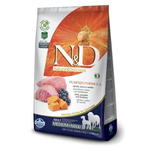 N&D Pumpkin DOG Adult M/L Lamb & Blueberry 2,5kg