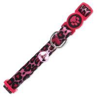 Obojek ACTIVE CAT nylonový leopard růžový XS VÝPRODEJ ZA 50 Kč