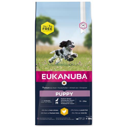 EUKANUBA Puppy & Junior Medium Breed - BONUS 18kg