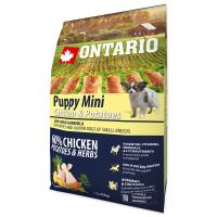 ONTARIO Puppy Mini Chicken & Potatoes & Herbs 2,25kg PO REGISTRACI JEN 276 Kč