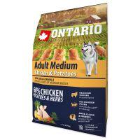 ONTARIO Dog Adult Medium Chicken & Potatoes & Herbs 2,25kg PO REGISTRACI JEN 266 Kč