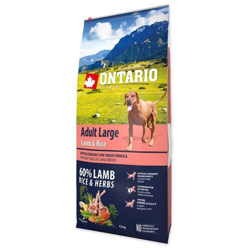 ONTARIO Dog Adult Large Lamb & Rice & Turkey 12kg PO REGISTRACI JEN 959 Kč
