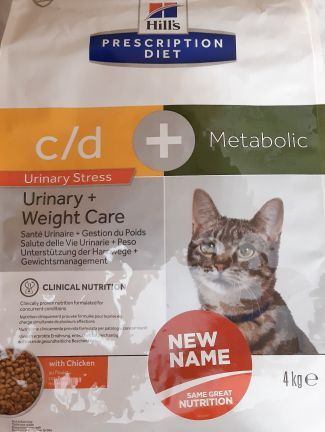 Hills Prescription Diet Feline C/D Urinary Stress + Metabolic 4kg
