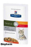 Hills Prescription Diet Feline C/D Urinary Stress + Metabolic stew 85g