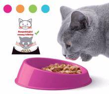 Miska kočka VIBRISSA small pr.15x4h-PLAST