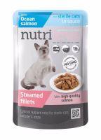 Nutrilove kočka kapsička, STERILE, šťáva losos 85g
