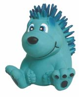 Latexová hračka s pískadlem-Modrý ježek 7,5cm