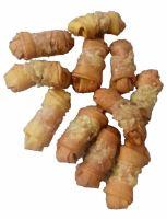 Buvolí uzel UZENÝ obalený-Kuře 6cm (14g)-10ks